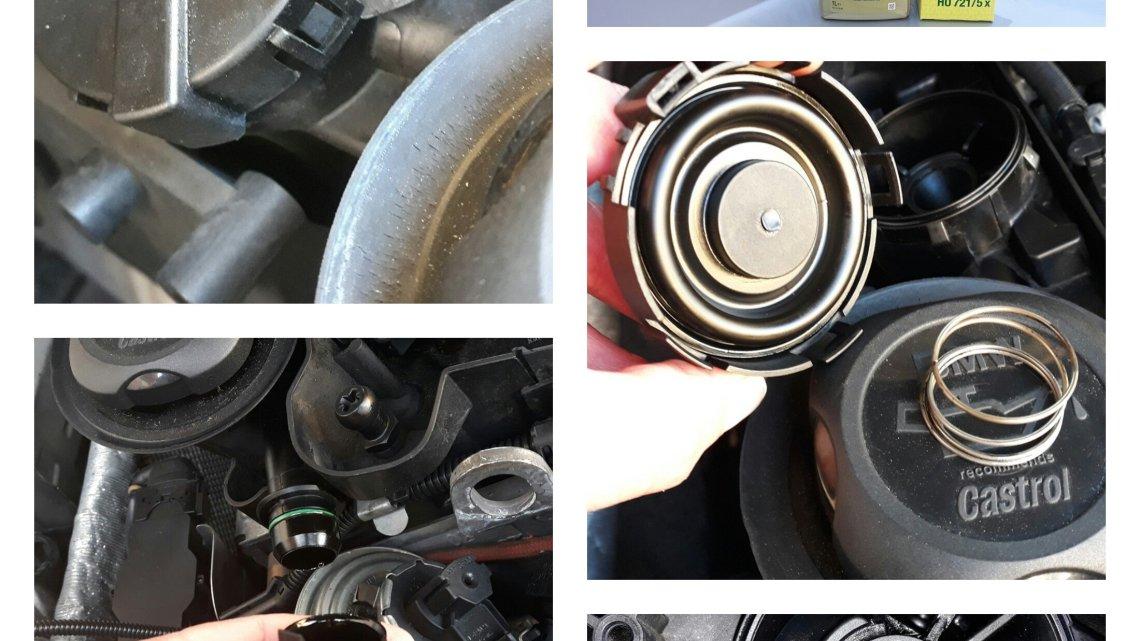 Recupero vapori olio X3 E83, come verificare la salute del motore