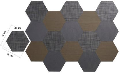 Shape lab: Hexágono pavimento vinilico Dickson