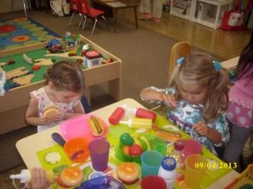 Group play at Silveira School