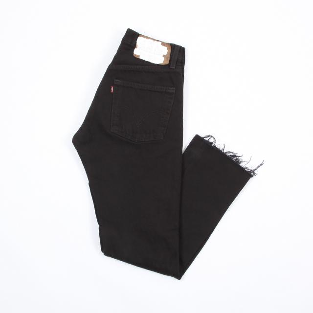 OLD PARK SLIT JEANS Black size:S [op-225]