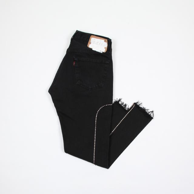 OLD PARK Western Jeans Black size:L [op-245]