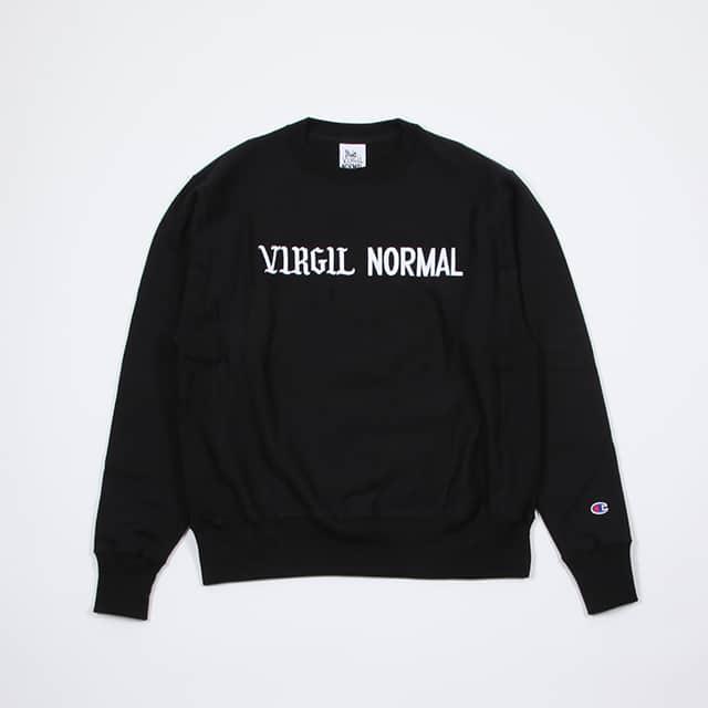 VIRGIL NORMAL ROSES H.WEIGHT FLEECE C/N EMB BLACK [VN087]