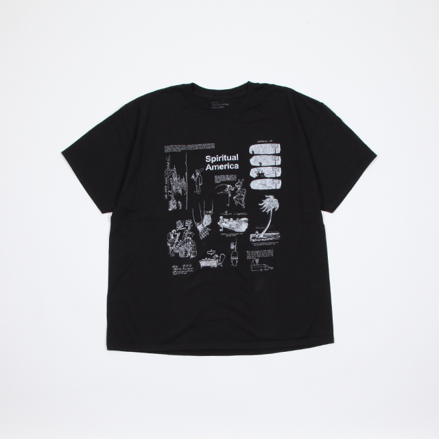 HEXICO AMERICAN CARTOON Tee Ex.HANES Black [2914]