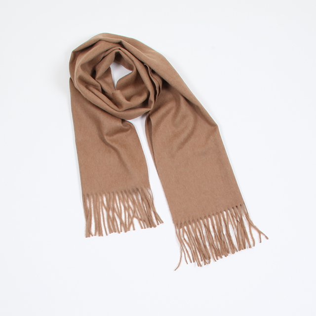 AURALEE BABY CAMELHAIR NARROW STOLE CAMEL [A8AM02BM]