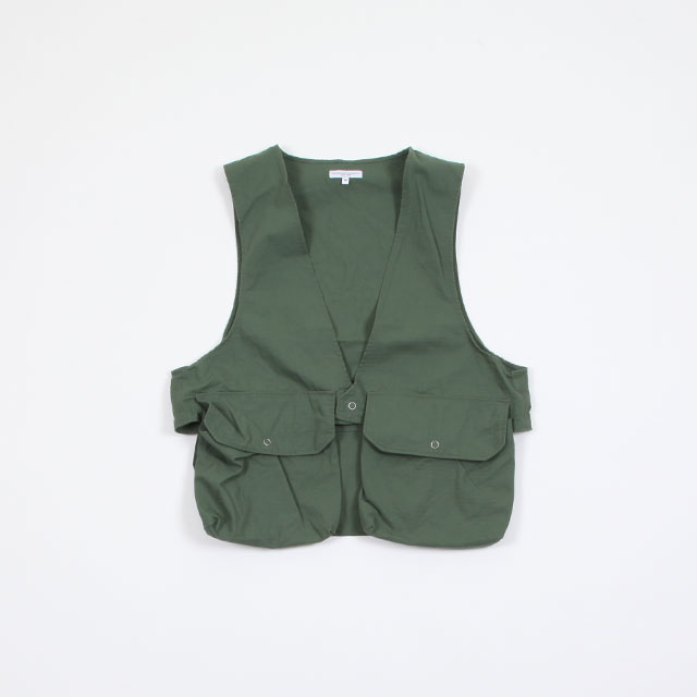 Engineered Garments Fowl Vest – Cotton Ripstop Olive [EF193]