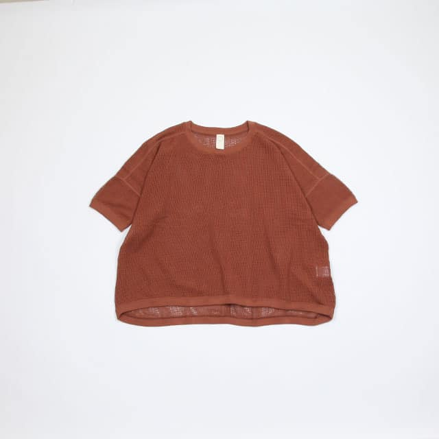 O project ORGANIC MESH SS WIDE FIT TEE [07TS2]