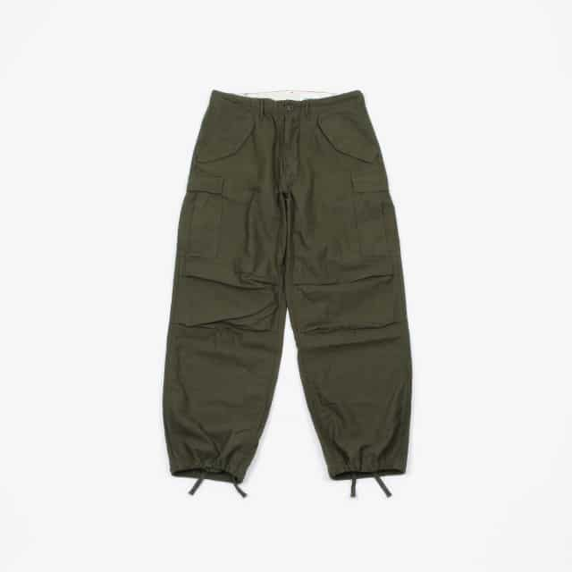 YAECA LIKE WEAR M – 51 FIELD PANT OLIVE SATIN [29602OLS-LR]
