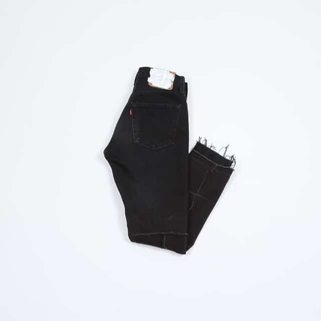OLD PARK BACK FLARE JEANS BLACK [OP-311]
