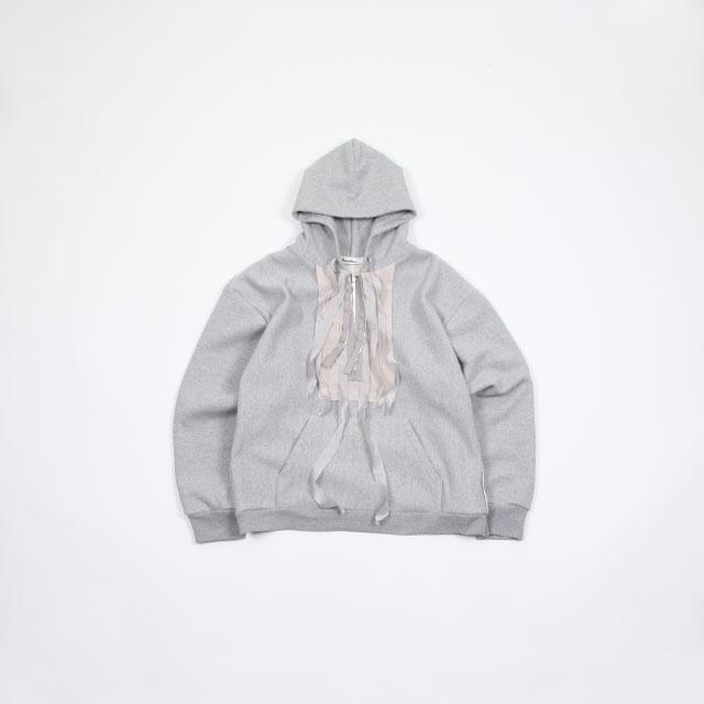 midorikawa LS HOODIE W/Zipper GRAY [MID19SS-CU01]