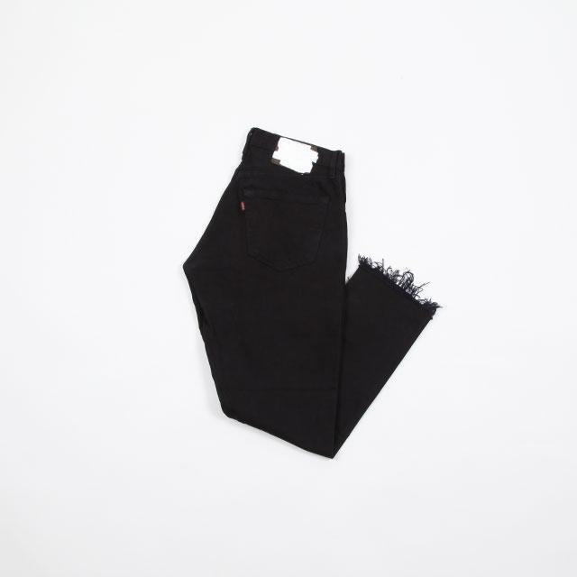OLD PARK GUSSET JEANS BLACK size:S [OP-310]