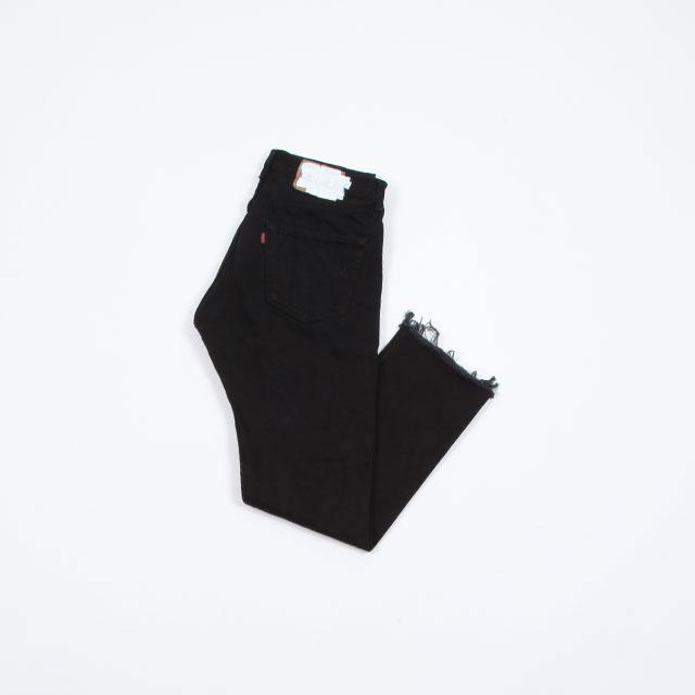 OLD PARK SLIT JEANS #Black size:M [op-225]