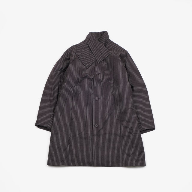 KIKO KOSTADINOV MIDNIGHT PADDED COAT AUBERGINE STRIPES [KKFW19C02-500]