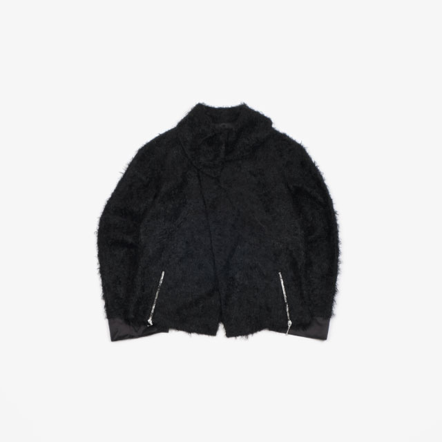 KIKO KOSTADINOV GOFF ZIP DARTED JACKET FURRY BLACK [KKFW19J08-800]