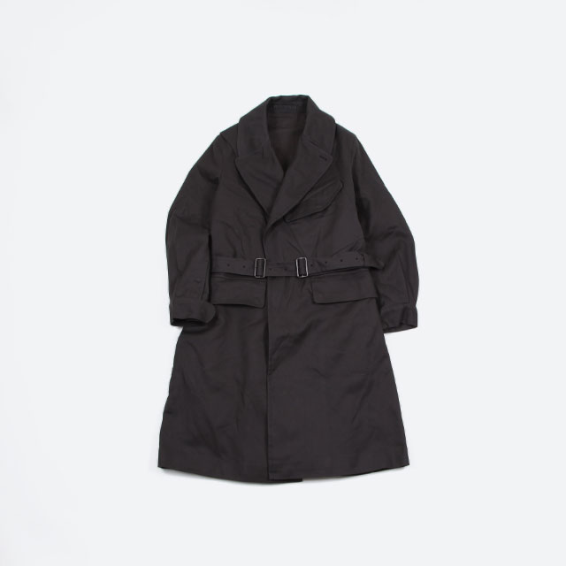 blurhms Super Serge Motorcycle Coat Charcoal [BHS-19AW013]