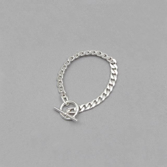 LAVER 7mm Curb Chain T Bar Bracelet [no.5]