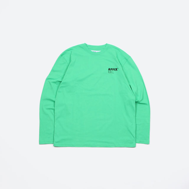 AFFIX LONG SLEEVE T-SHIRT GREEN [AFFWAW19TS05]