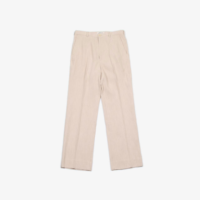 AURALEE COTTON WOOL DOUBLE CLOTH SLACKS [A20SP02WF]