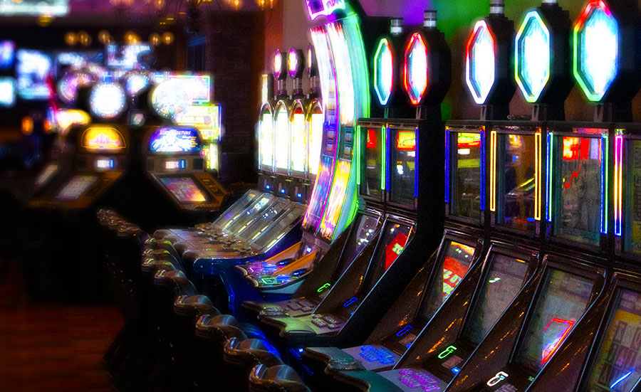 Slot machines and games inside the Silverado Casino in Fernley, NV