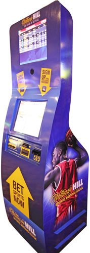 William Hill sports betting kiosk