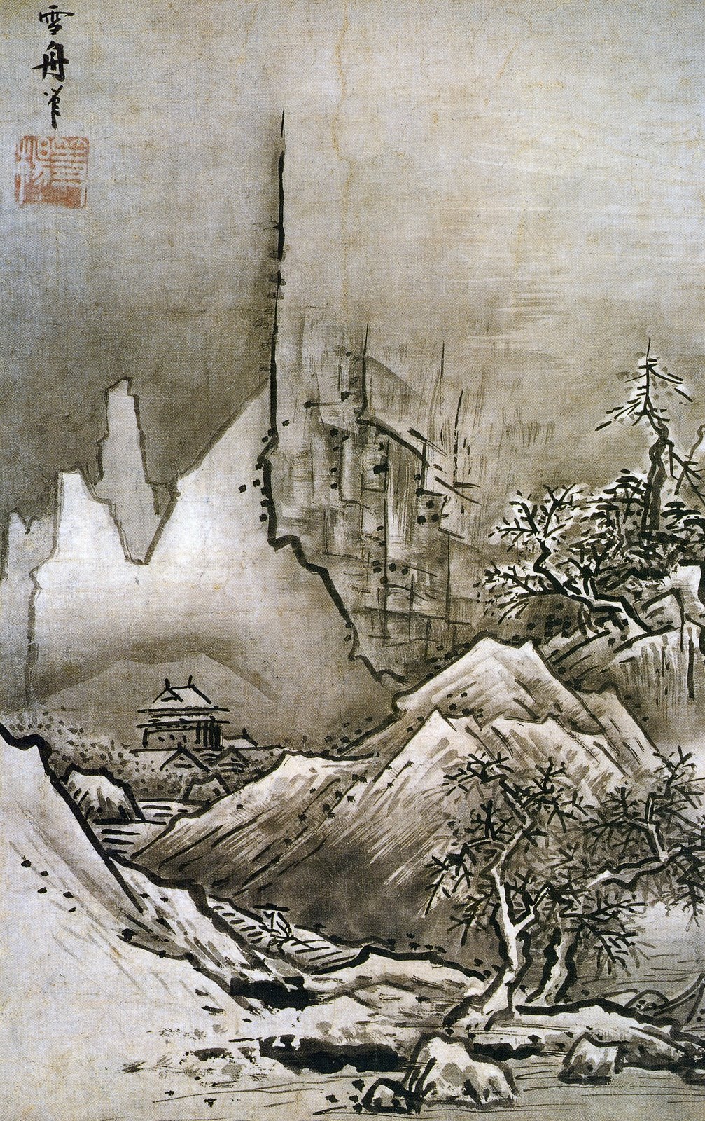 Winter landscape  Sesshu Toyo  1486   silver and exact