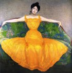 Painting of Woman in Yellow Dress