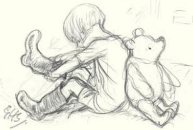 Gratitude by Marcel Proust, Christopher Robin, and Winnie