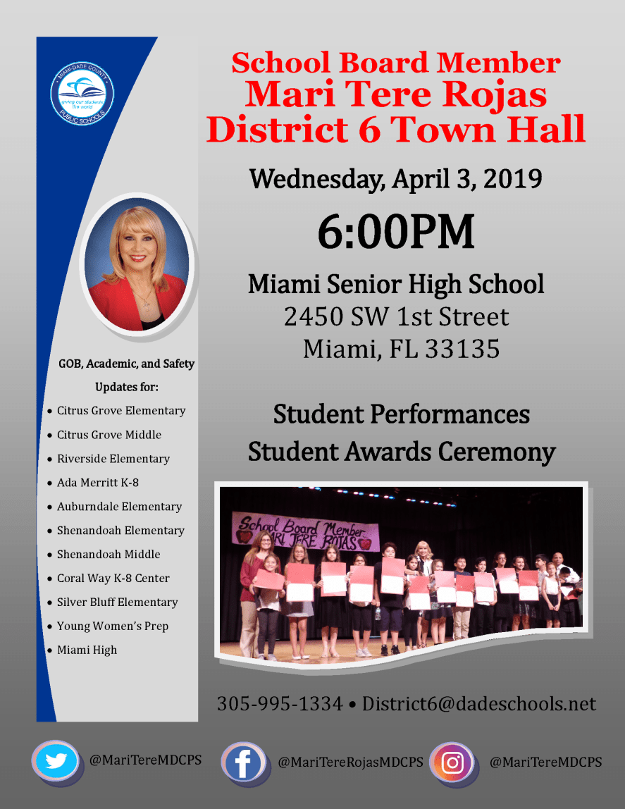 Miami High Town Hall Flyer