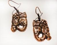 Elephant Head Earrings in Sterling Silver | SilverBotanica ...