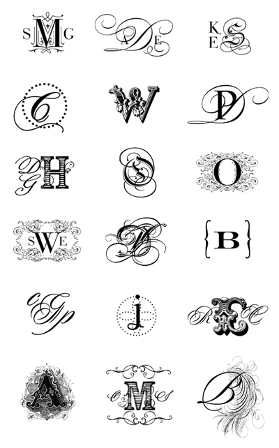 one of my favorite things…designing monograms » Silverbox