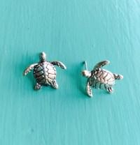 Turtle Stud Earrings in Sterling Silver - www ...