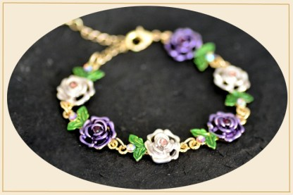 Main Painted Flower Metal Braclet Chain