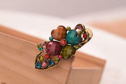 Multicolor Metal Mini Hair Clip Four Petal
