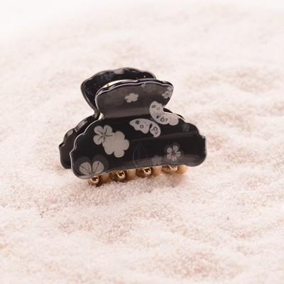 Black Small Acrylic Hair Claw