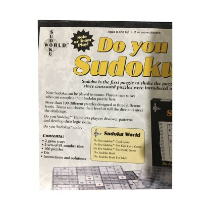 Do You Sudoku? board game