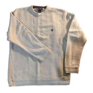 Chaps Heavy Weight Cotton Sweater White