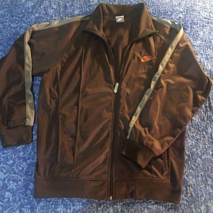 Brown Nike Zipper Sweatsuit Jacket
