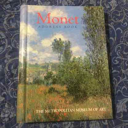 Monet Address Book Front Cover