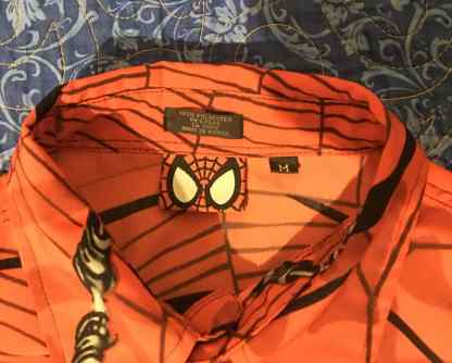 Marvel Spiderman Shirt Collar