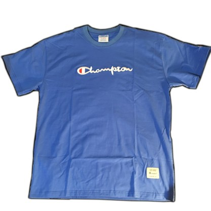 Blue Champion Embroidered T-shirt