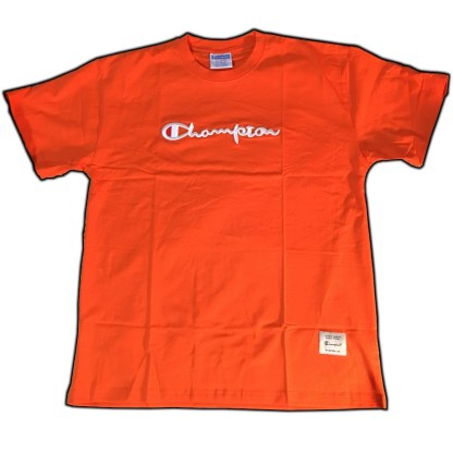 Orange Champion Embroidered T-shirt