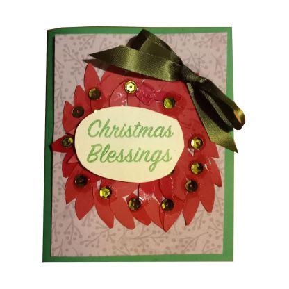 Wreath Christmas Card Handmade