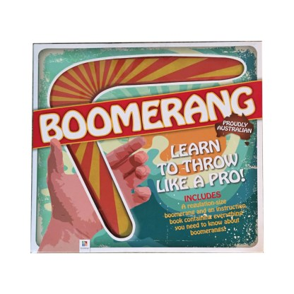 Boomerang with book