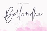 Last preview image of Bellandha – Elegant Signature Font