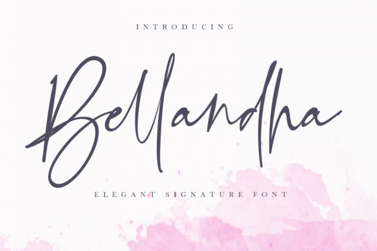 Preview image of Bellandha – Elegant Signature Font
