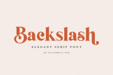 Last preview image of Backslash – Elegant Serif Font