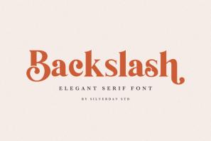 Backslash - Elegant Serif Font