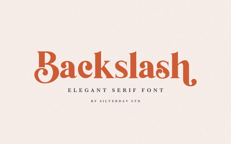 Preview image of Backslash – Elegant Serif Font