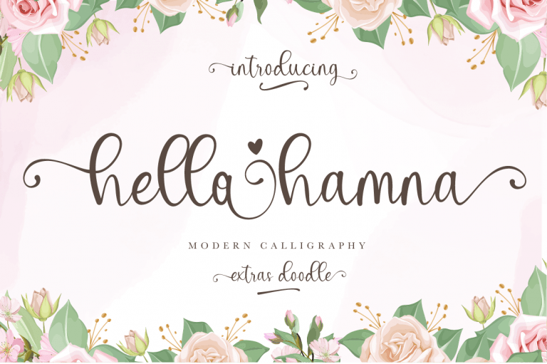 Preview image of Hello Hamna – Modern Calligraphy Font