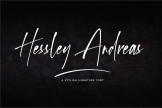 Last preview image of Hessley Andreas – Stylish Signature Font