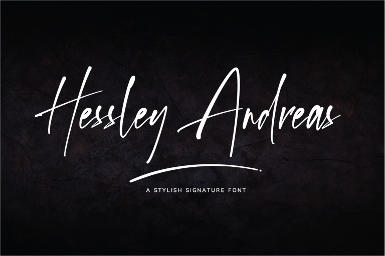 Preview image of Hessley Andreas – Stylish Signature Font